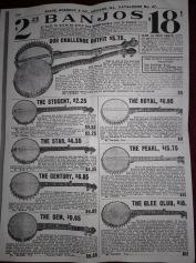 Im ersten Warenhauskatalog konnte man Banjos bestellen (hier bei Sears, Roebucks & Co.)