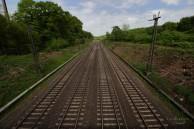 Bahnstrecke parallel zur A3...