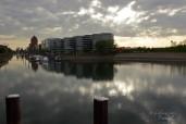 Gegen Abend Sonne und Wolken über dem Innenhafen...